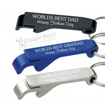 Fathers Day Metal Bottle Opener Keyring Worlds Best Dad/Pa/Grandad