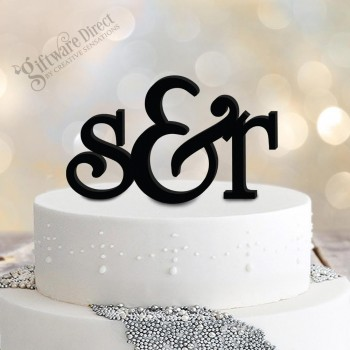 Personalised Initial Cake Topper with Ampersound Acrylic