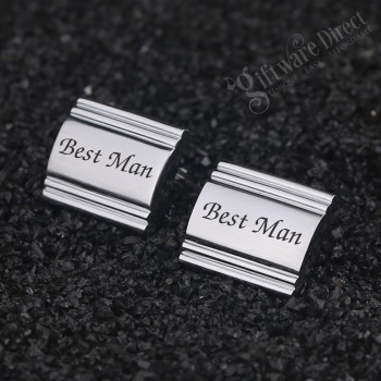 Stock Bridal Party Engraved Wedding Cufflink Set Wedding Gift