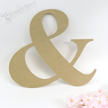 Wooden Symbol  '&' Sign Wedding Ampersand Raw Unpainted