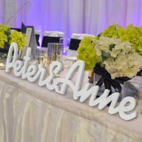 personalised wooden wedding names cutout mdf raw unpainted or painted