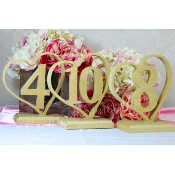 Frestanding Wooden Table Numbers raw mdf