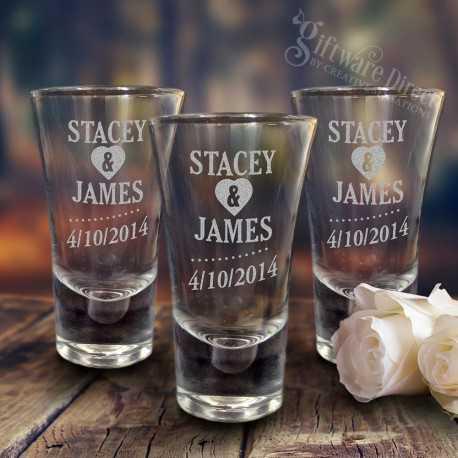 engraved deluxe 60ml wedding shot glasses cheap favours australia