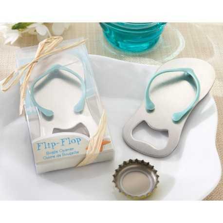 Flip Flop Thong Bottle Opener in Gift Box (Blue/Pink)