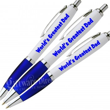 Worlds greatest dad printed plastic pen fathers day