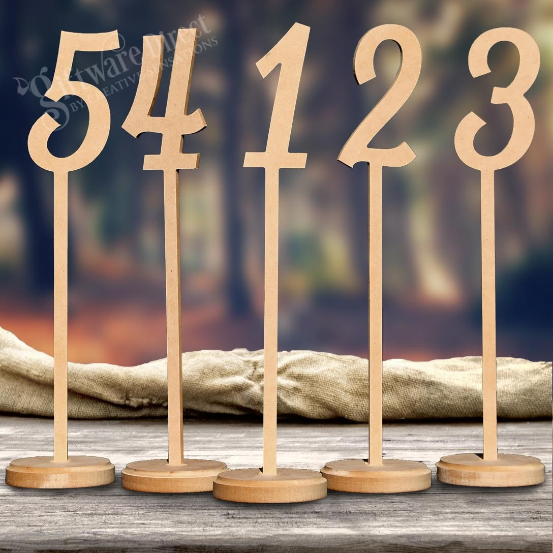 Wholesale mdf wooden wedding table numbers tall number on stick junglespirit Choice Image