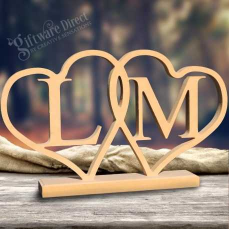 Personalised wooden initial plaque mdf letters or name wedding