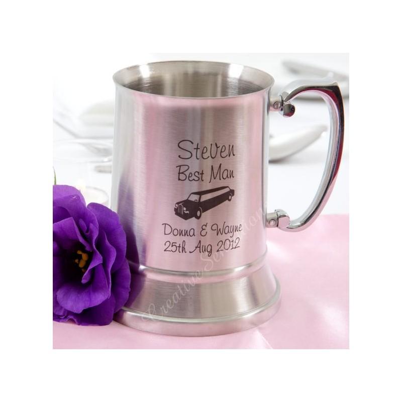 Stainless Steel Engraved Beer Mug