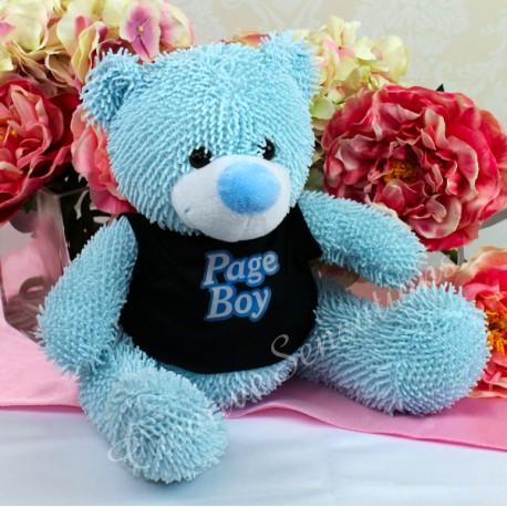 Page Boy Plush Teddy Bear Blue