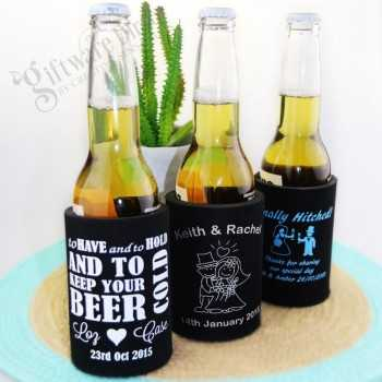 1 Colour Print Stubby Holder Deluxe with Base