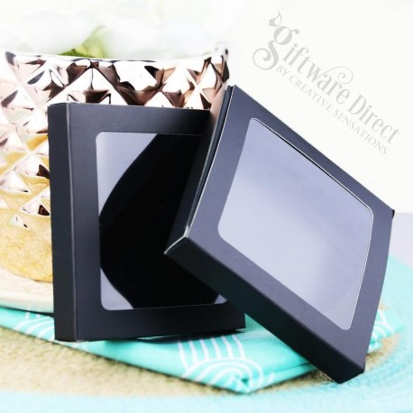 Coaster Gift Box for presentation of wedding or corporate coasters glass wood acrylic