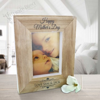 Personalised Wooden Freestanding Photo Frame Mothers Day Gift