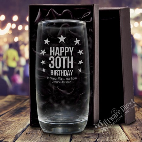 engraving hi-ball drinking glass soft drink water perfect for any age