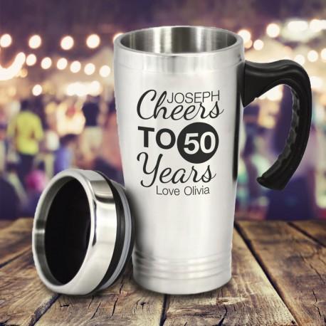 Personalised Stainless Steel Birthday  Travel Mug