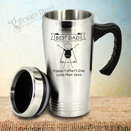 Personalised Stainless Steel Fathers Day Travel Mug