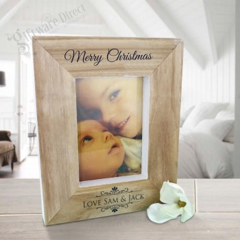 Personalised Christmas Wooden Photo Frame