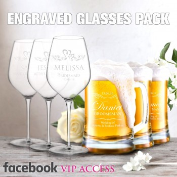 FACEBOOK DEAL - 600ml WINE GLASSES + 500ml BEER MUGS