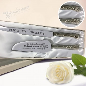 Cake Splade + Wedding Knife Diamonte Set