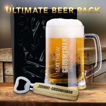 Ultimate Beer Pack Engraved Groomsman Gift Wedding