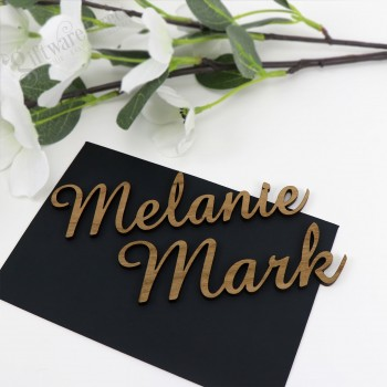 Laser Cut Wedding Wooden Name Placecards