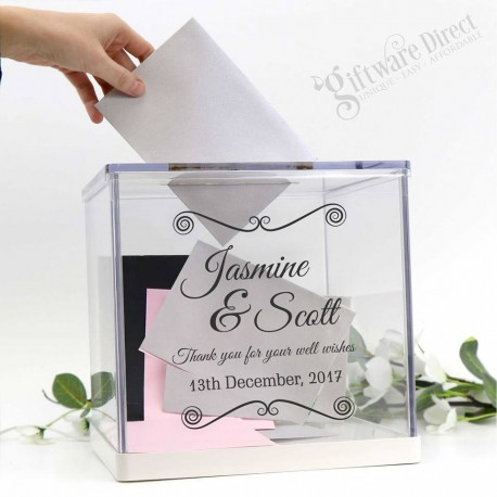 personalised printed acrylic wishing well wedding