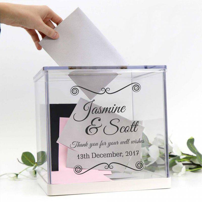 Wedding Personalised Acrylic Wishing Well