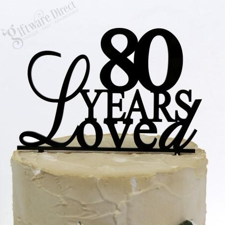 18th 21st 30th 40th 80th Any Age Birthday Acrylic Cake Topper Elegant