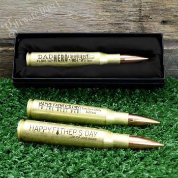 Engraved Fathers Day Bullet Bottle Opener 50 Caliber Gift
