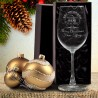 Teachers Thank you Christmas Engraved Wine Glass 350ml Personalised