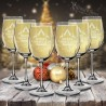 Set of 12 Christmas Wine Glasses Laser Engraved