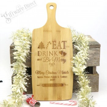 Engraved Christmas Wooden Chopping Board Personalised Gift