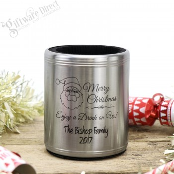Engraved Stainless Steel Stubby Holder with Insulation Christmas Gift