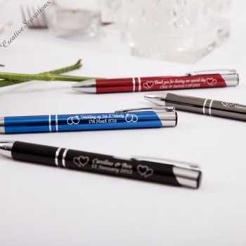 personalised engraved deluxe metal pen wedding favour designer style pen