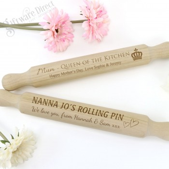 Mothers Day Rolling Pin Stock