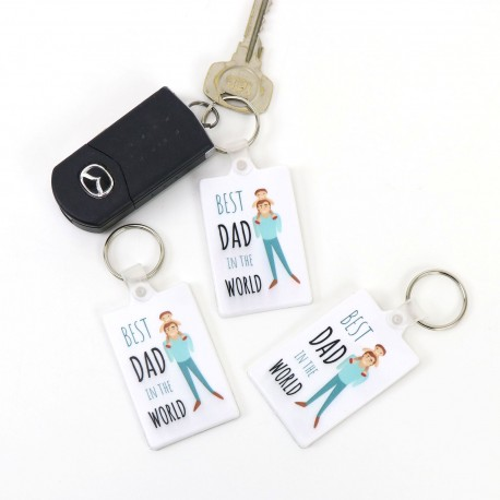 Pvc keyring best dad design fathers day school fundraising gift