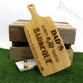 Fathers Day Engraved Wooden Cutting Board Chopping Personalised Gift Hardwood BBQ