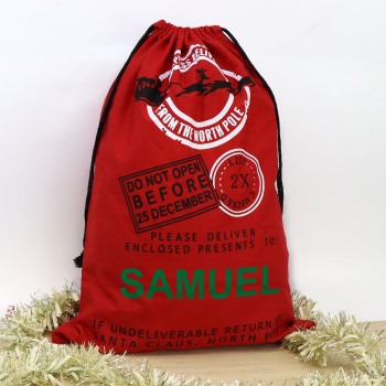 Personalised Red Santa Sack Christmas Stocking Express Delivery North Pole