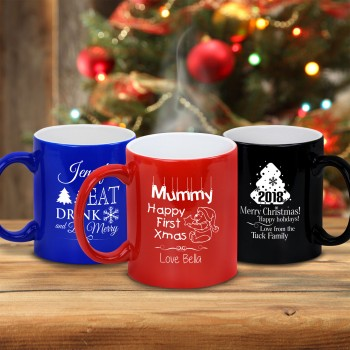 Engraved Coffee Mug Personalised Christmas Gift