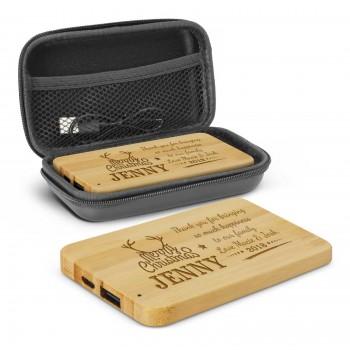 Personalised Bamboo Power Bank Portable Charger 4000mAh Engraved Christmas Gift
