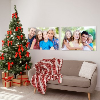 600x400mm Christmas Printed Acrylic Wall Hanging