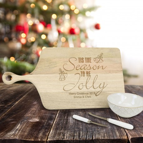 Paddle Chipping Board Engraved Christmas Personalised Gift
