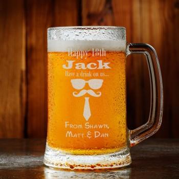 Stars Premium Birthday Beer Mug - All Ages