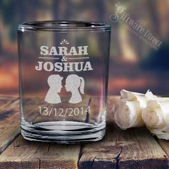Engraved Glass Votive Holders Candle Favours