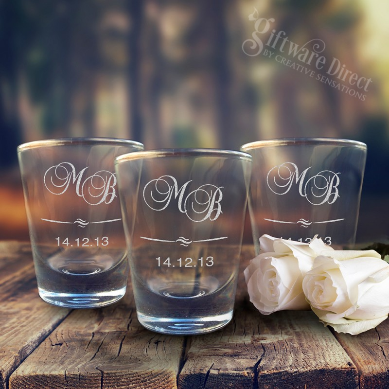 Engraved Wedding Shot Glasses Cheap Favours Australia Personalised