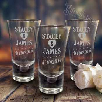 Engraved Deluxe Tall 60ml Shot Glasses
