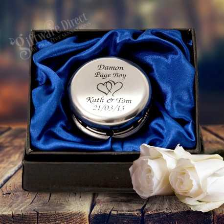 personalised engraved yo-yo page boy gift for weddings