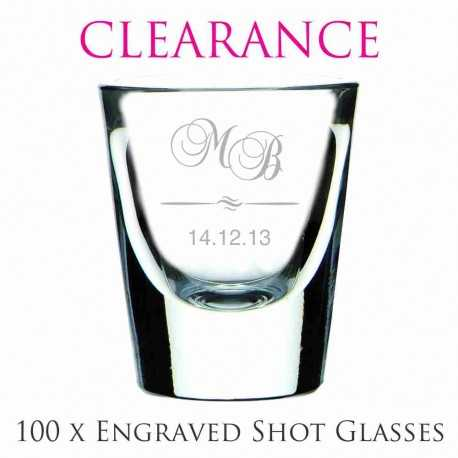 clearance cheap wholesale 47ml shot glass wedding favours personalised